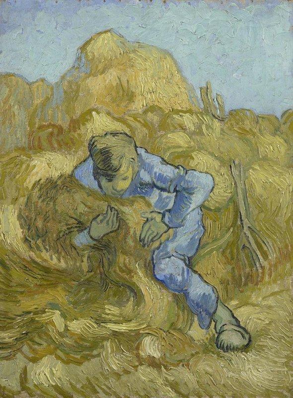 Vincent van Gogh, De schovenbinder, 1889