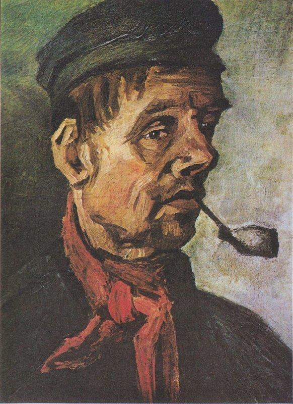 Vincent van Gogh, Hoofd van een man met een pijp, 1885