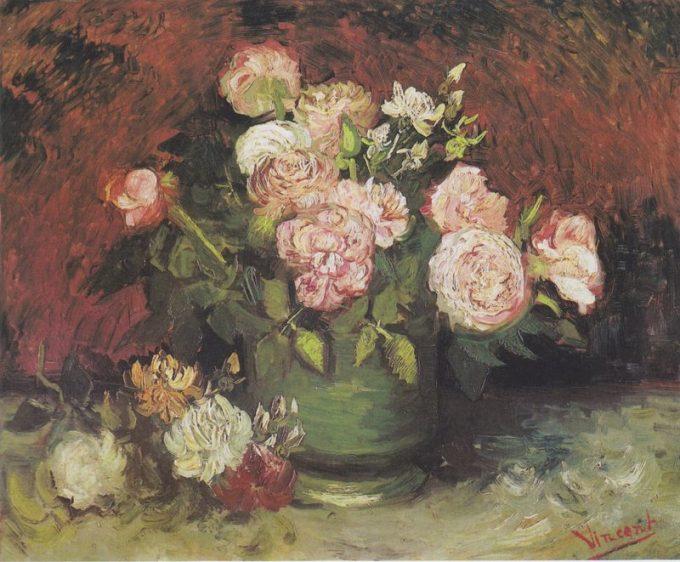 Vincent van Gogh, Vaas met pioenen en rozen, 1886