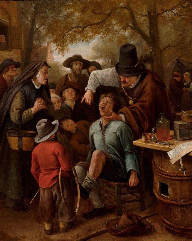 Jan Steen, De kiezentrekker, 1651