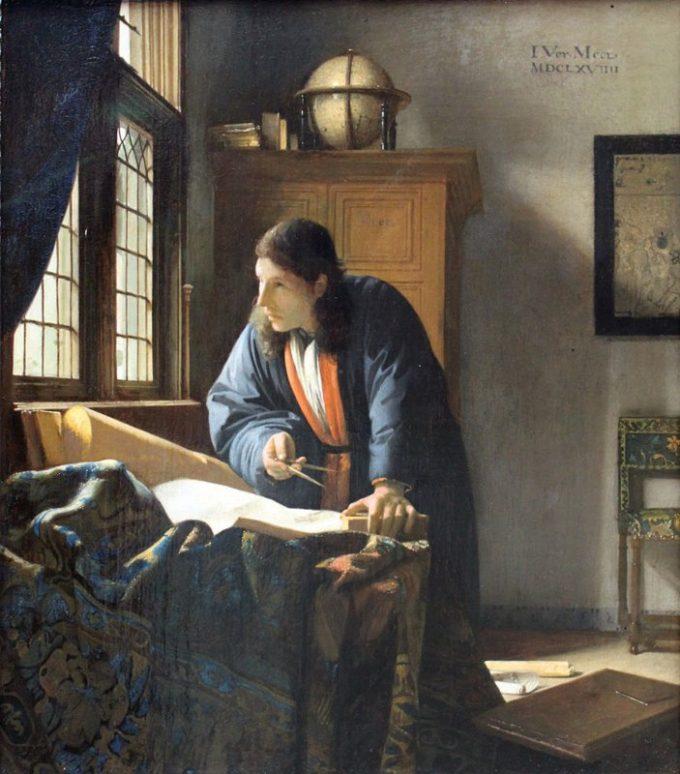 Johannes Vermeer, De geograaf, 1668-1669