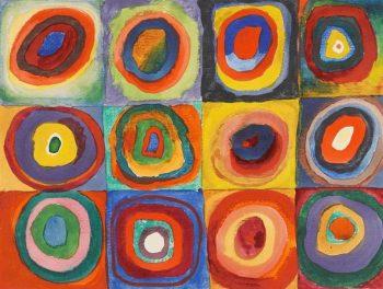 Wassily Kandinsky, Vierkanten met concentrische cirkels (Kleurenstudie), 1913