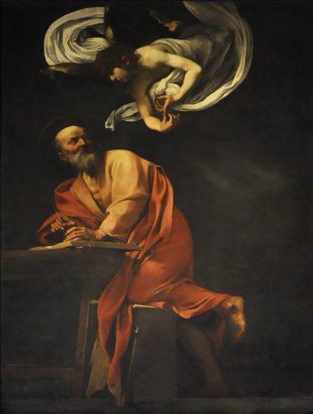 Michelangelo Merisi da Caravaggio, Matteüs en de engel, 1602