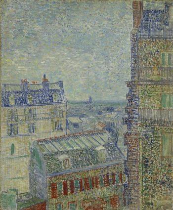 Vincent van Gogh, Gezicht vanuit Theo's appartement, 1877