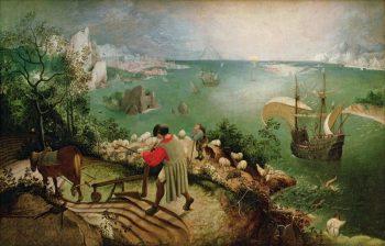 Pieter Bruegel de Oude, De val van Icarus, ca. 1595-1600