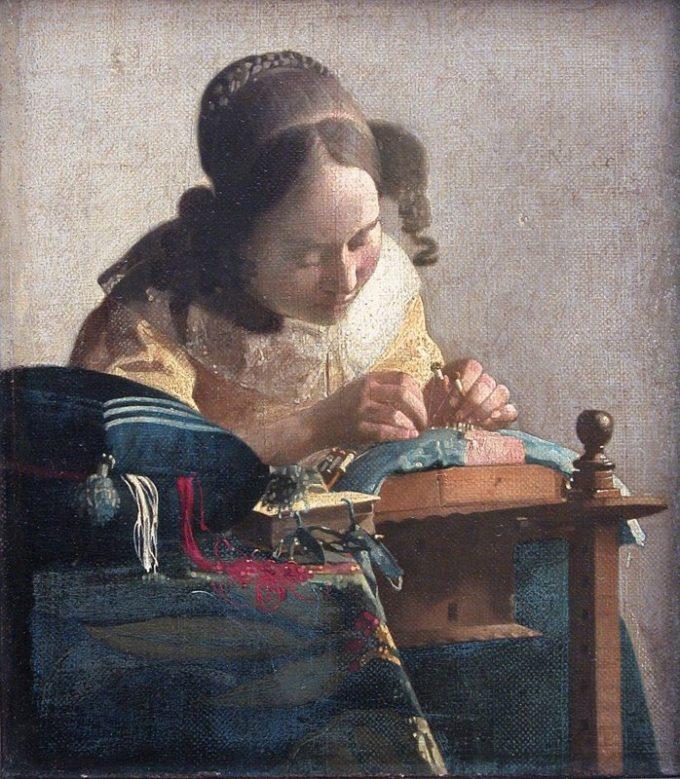 Johannes Vermeer, De kantwerkster, ca. 1669-1670
