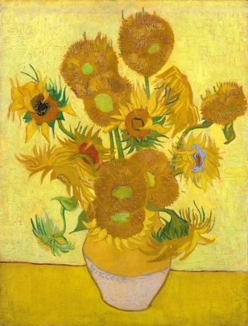 Zonnebloemen in een vaas, Vincent van Gogh, 1888
