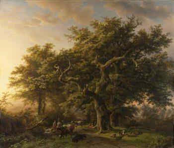 Barend Cornelis Koekkoek, Bosgezicht, 1848