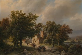 Barend Cornelis Koekkoek, De rukwind, 1845