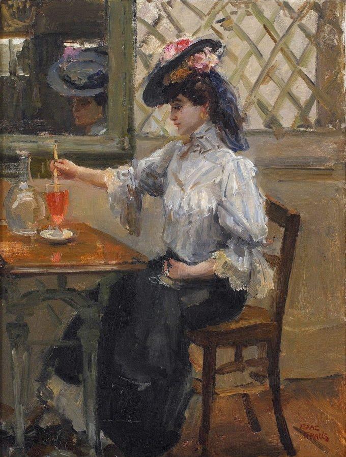 In het café, Isaac Israëls, 1904