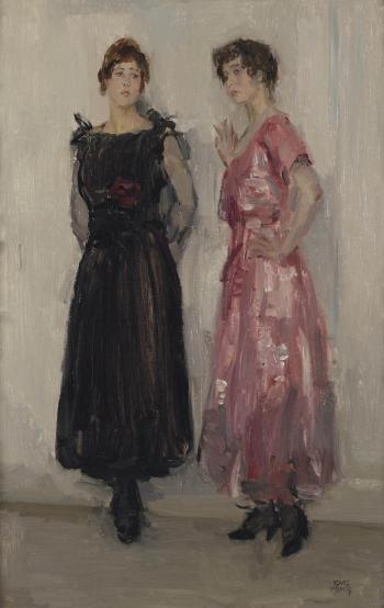 Isaac Israëls, Twee mannequins bij Hirsch, 1916