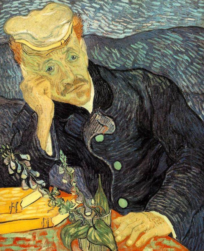 Vincent van Gogh, Portret van Dr. Gachet (eerste versie), 1890