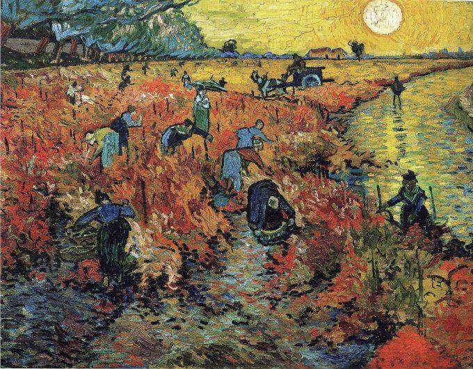 Vincent van Gogh, De rode wijngaard (La vigne rouge), 1888