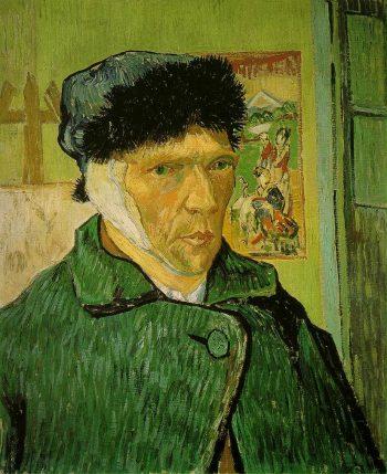 Vincent van Gogh, Zelfportret met verbonden oor, 1889