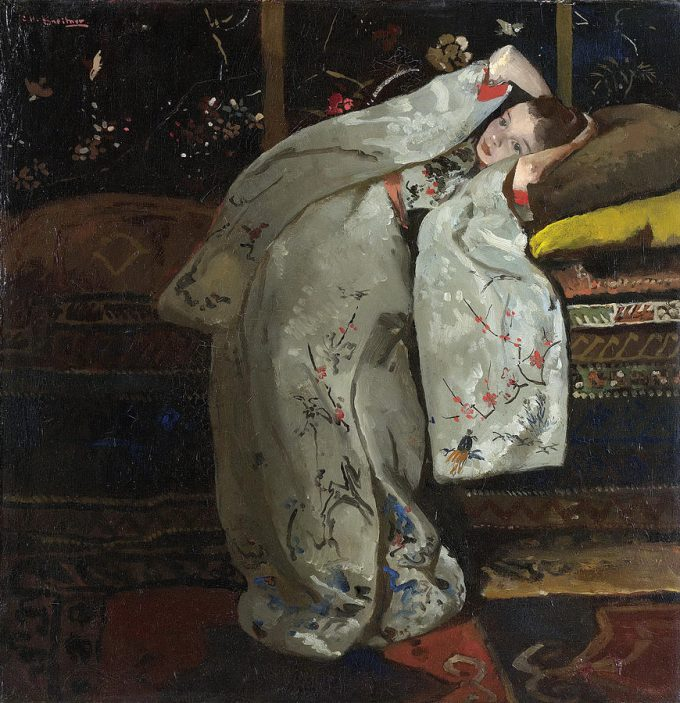 Breitner, Meisje in witte kimono