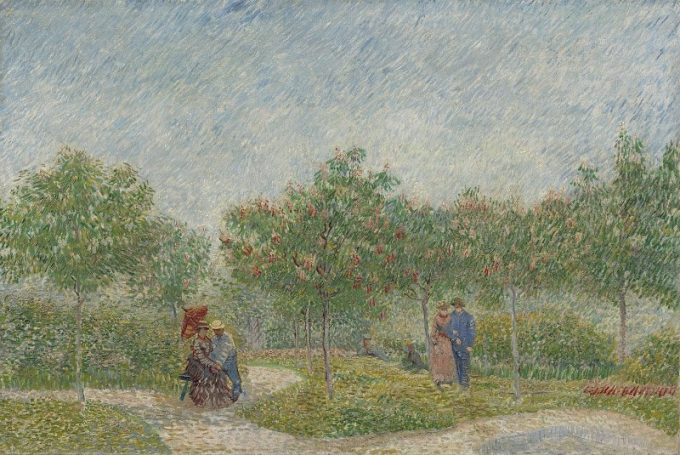 Vincent van Gogh, Verliefde paartjes in het park Voyer d'Argenson te Asnieres, 1887