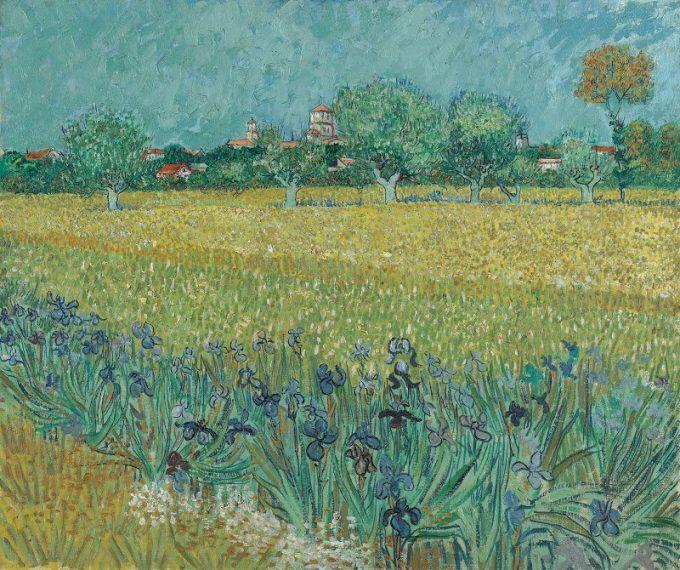 Vincent van Gogh, Veld met irissen bij Arles, 1888