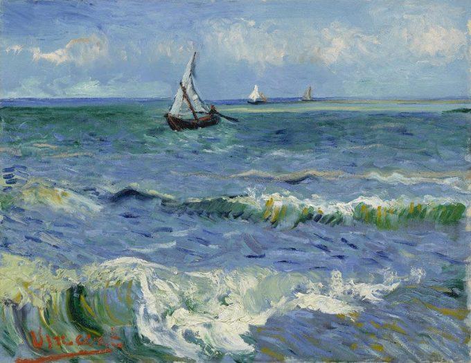 Vincent van Gogh, Zeegezicht bij Les Saintes-Maries-de-la-Mer, 1888