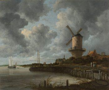 Jacob van Ruisdael, De molen bij Wijk bij Duurstede, ca. 1668 – ca. 1670