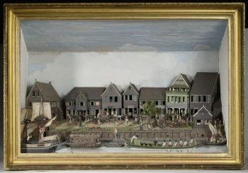 Diorama van de Waterkant van Paramaribo, Gerrit Schouten, 1820