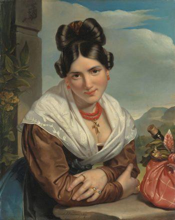 Rustend meisje, Jan Adam Kruseman, 1827