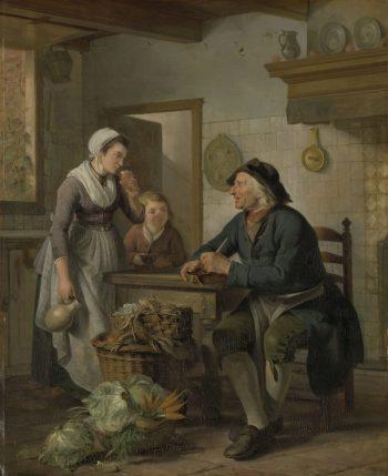 Morgenbezoek, Adriaan de Lelie, 1796