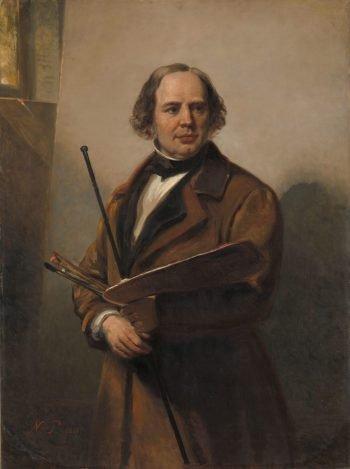 Jan Willem Pieneman (1779-1853). Schilder, vader van Nicolaas Pieneman, Nicolaas Pieneman, 1860