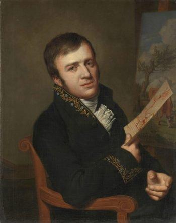 Jan (Baptist) Kobell II (1778-1814). Schilder, in het uniform van een lid van het Koninklijk Instituut van Wetenschappen, Letterkunde en Schoone Kunsten, Willem Bartel van der Kooi, 1811