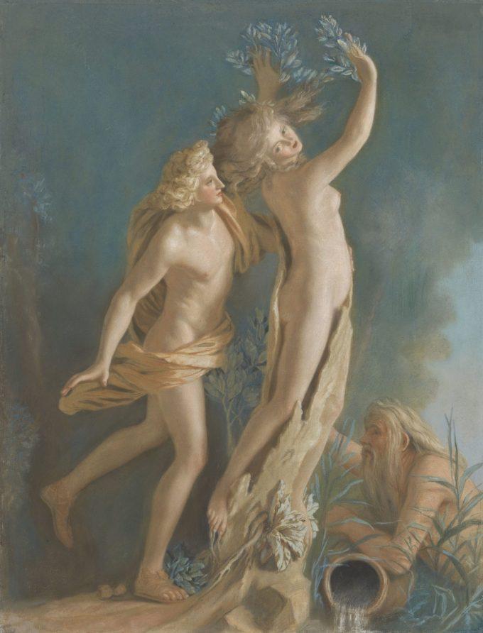 Apollo en Daphne, naar het beeld van Gianlorenzo Bernini in de Galleria Borghese te Rome, Jean-Etienne Liotard, 1736