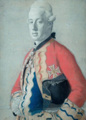 Portret van aartshertog Maximiliaan Franz van Oostenrijk (1756-1801), later aartsbisschop en keurvorst van Keulen en prins bisschop van Münster, Jean-Etienne Liotard, 1778