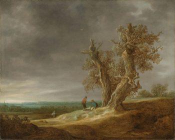Landschap met twee eiken, Jan van Goyen, 1641