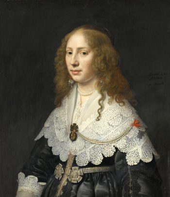 Portret van Aegje Hasselaer, Michiel Jansz. van Mierevelt, 1640