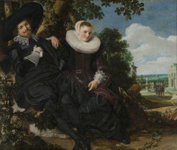 Portret van een stel, waarschijnlijk Isaac Abrahamsz Massa en Beatrix van der Laen, Frans Hals, ca. 1622