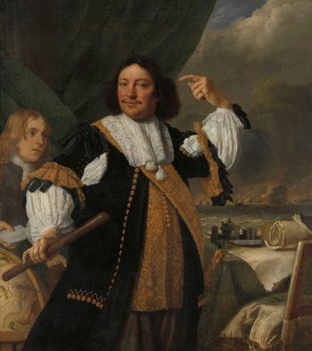 Aert van Nes (1626-93). Luitenant-admiraal, Bartholomeus van der Helst, 1668