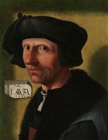 Portret van Jacob Cornelisz van Oostsanen, Jacob Cornelisz. van Oostsanen (atelier van), ca. 1533