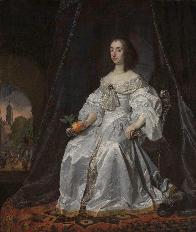 Maria Stuart als weduwe van Willem II, Bartholomeus van der Helst, 1652
