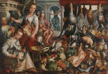 De welvoorziene keuken, Joachim Bueckelaer, 1566