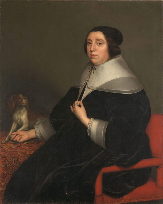 Portret van een vrouw, Gerard van Honthorst, 1655