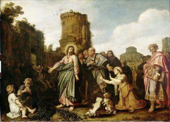 Christus en de vrouw uit Kanaän, Pieter Lastman, 1617