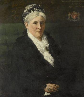 Maria Hermina Heemskerk (1827-1908). Echtgenote van Menno David Graaf van Limburg Stirum, Hendrik Willem Mesdag, 1887
