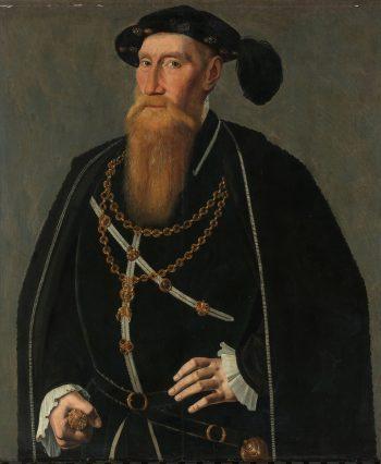 Portret van Reinoud III van Brederode, Jan van Scorel, ca. 1545
