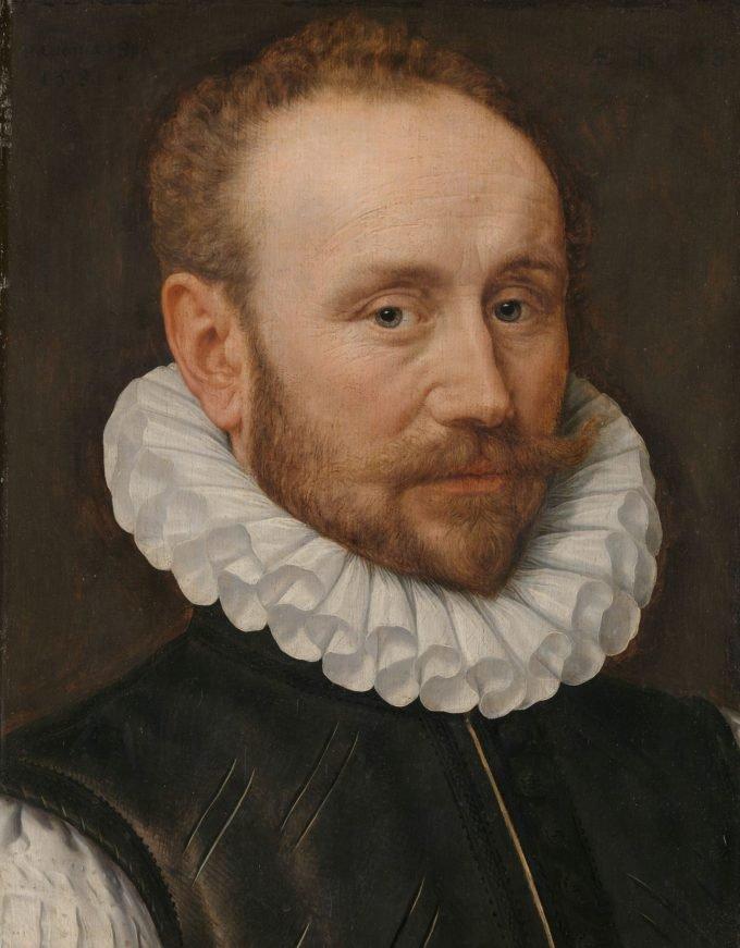 Portret van een man, Adriaen Thomasz. Key, 1581