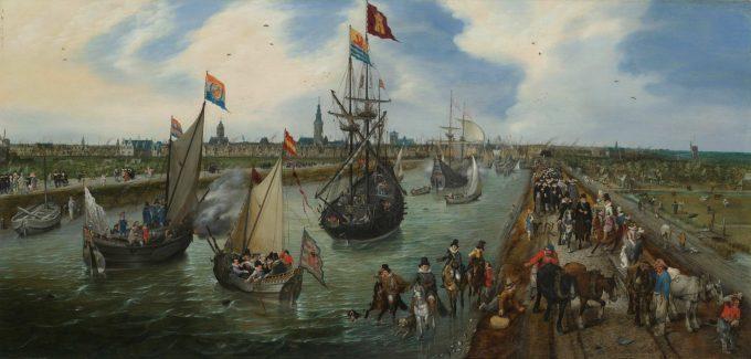 Het vertrek van een hoogwaardigheidsbekleder uit Middelburg, Adriaen Pieterszoon van de Venne, 1615