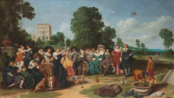 De buitenpartij, Dirck Hals, 1627