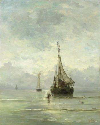 Kalme zee, Hendrik Willem Mesdag, 1860 – 1900