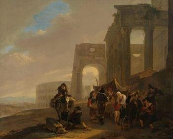 Volksscène tussen Romeinse ruïnes, Jan Both, 1640 – 1652