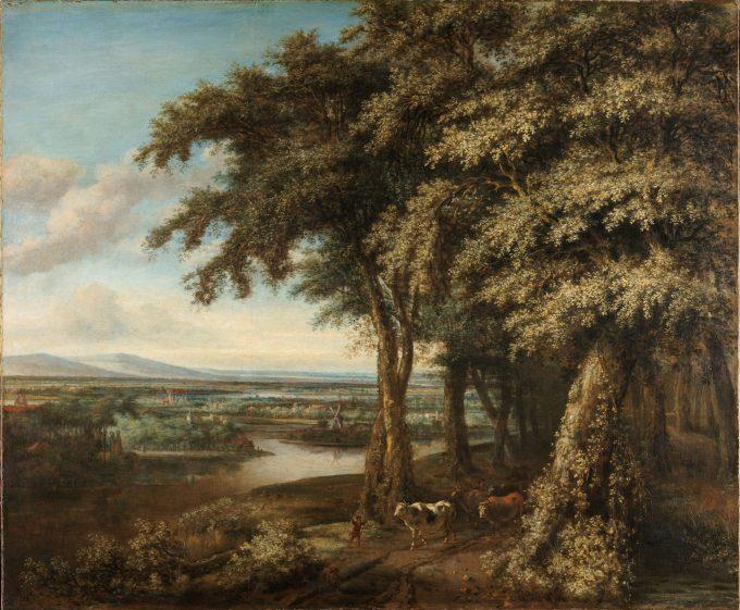 De ingang tot het bos, Philips Koninck, 1650 - 1688