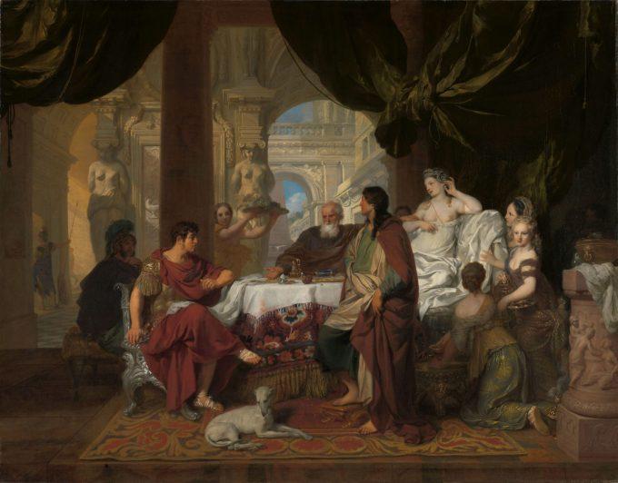 Het feestmaal van Cleopatra, Gerard de Lairesse, ca. 1675 - ca. 1680