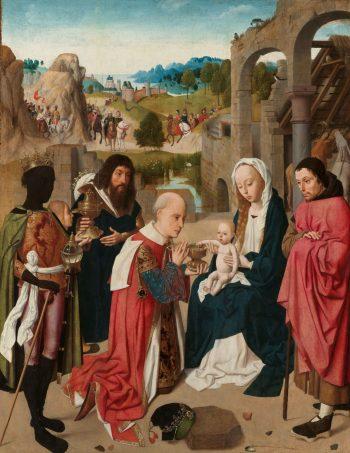 De aanbidding van de koningen, Geertgen tot Sint Jans, ca. 1480 – ca. 1485
