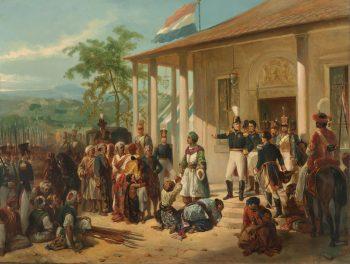 De onderwerping van Diepo Negoro aan luitenant-generaal baron de Kock, Nicolaas Pieneman, ca. 1830 – ca. 1835